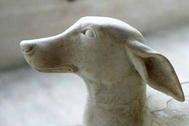 Ancient Greek marble statue of a dog. www.penelope.uchicago.edu
