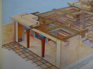 The palace of Mykenai, entrance to the Great Hall. George E. Mylonas Mycenae Rich in Gold