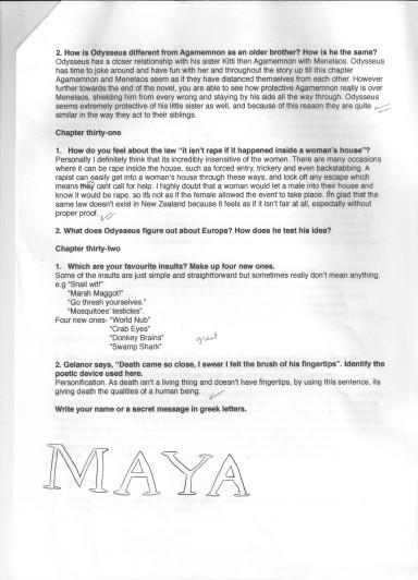 Murder at Mykenai class assignments  25